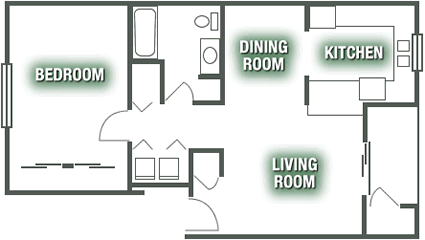Apartments - One Bedroom Apartment Plan A